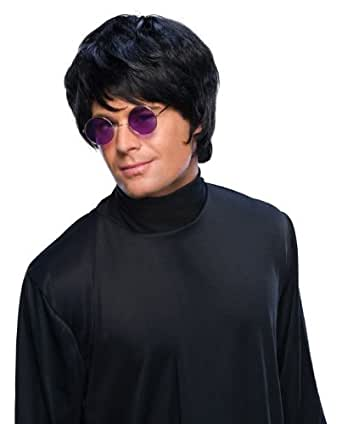 Rubie's Costume Pop Star Short Wig, Black, One Size