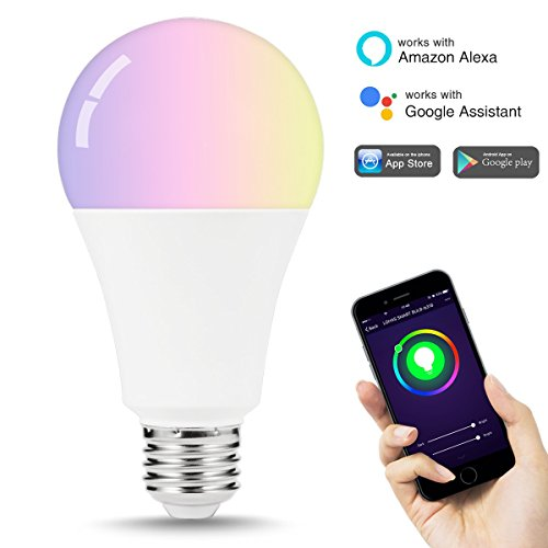 LOHAS Smart LED Bulbs, WiFi Light Bulb A21, 100W-150W Equivalent(14W), LED Dimmable Multicolor Lights, 1380LM, Smart Phone controlled Home Lighting, Work with Alexa and Google Assistant