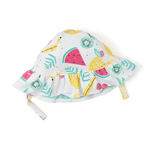 Gymboree Baby Girls Reversible Sun Hat, Sweet Mint Stripe, 0-6 mo