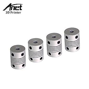 OctagonStar Flexible Couplings 5mm to 8mm NEMA 17 Shaft for RepRap 3D Printer or CNC Machine(2PCS)