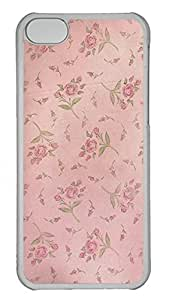 iPhone 5c Cases Unique Cool PC Transparent Cases Personalized Design Soft Pink Flowers By Belovedstock
