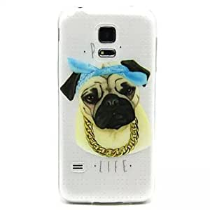 HJZ Relief Painting Tuhao Dog Pattern 0.2 Slim TPU Protective Shell for Samsung Galaxy S5 Mimi