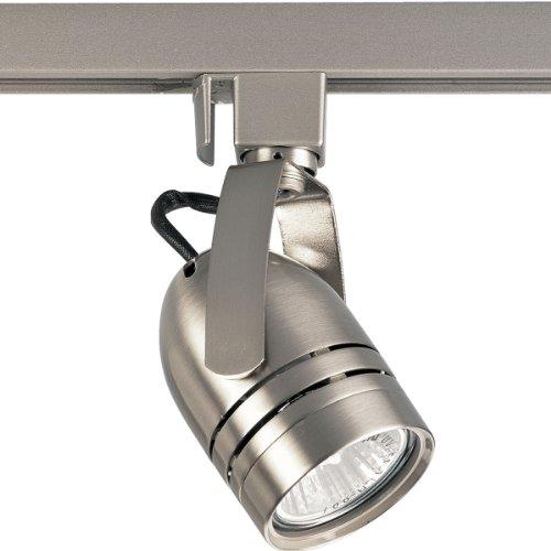 Progress Lighting P6112-09 120 Volt Line Voltage Slotted Back Cylinder Track Head, Brushed ()