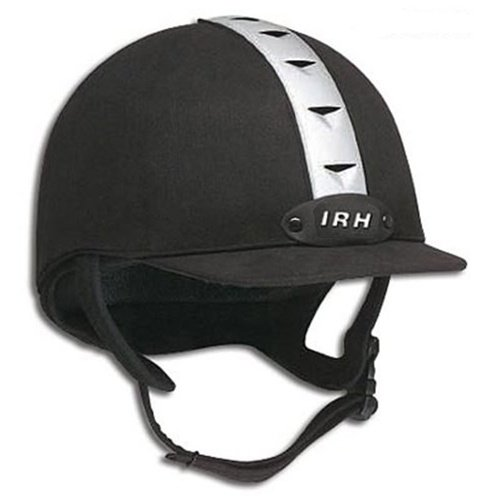 IRH ATH Riding Helmet - Black/Silver (L) ()
