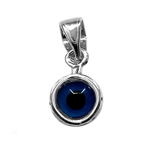 Sterling Silver Greek Key Evil Eye (Sterling Silver Greek Key Pendant)