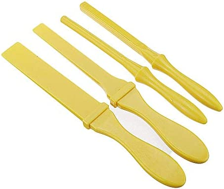 LHQ-HQ Abrasive Tool, Plastic Straight Edge Roll Stick Manual Sandpaper Clamp Sanding Stick