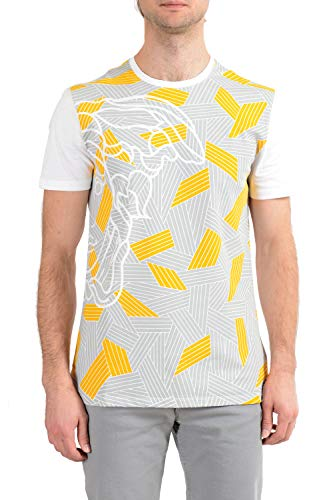 Versace Collection Mens White Graphic Crewneck T-Shirt Sz US XL IT 54