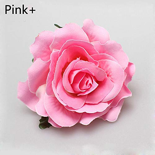 (MOPOLIS Multicolor Rose Flower Bridal Hair Clip Hairpin Brooch Party Wedding Accessories   Color - Pink+)