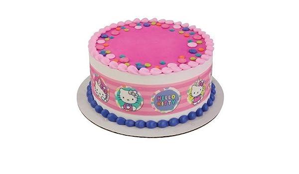 Amazon Com Hello Kitty Strips Licensed Edible Cake Topper