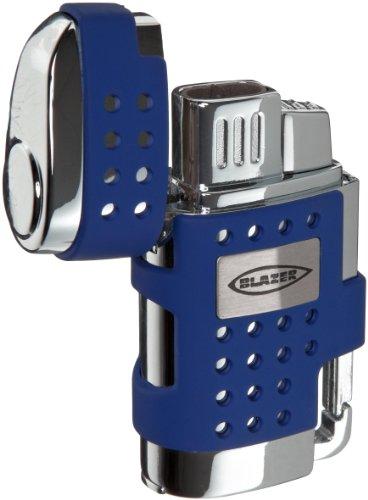Blazer Evo Butane Refillable  Torch Lighter, Blue - Soft Blue Torch Flame Lighter
