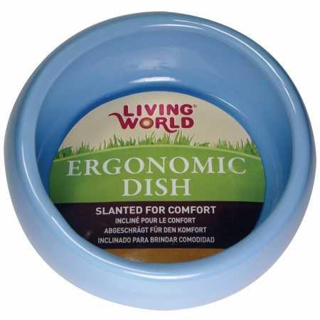 Picture of Living World Ergonomic Dish, Blue, Small