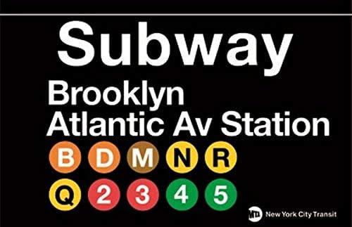 EpochSign Panneau de Station de m/étro Brooklyn Atlantic Ave en m/étal 20,3 x 30,5 cm