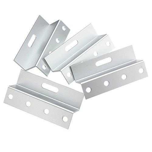 Pukido 4pcs Aluminum Z Bracket Solar Panel Mounting Brackets Support Kit