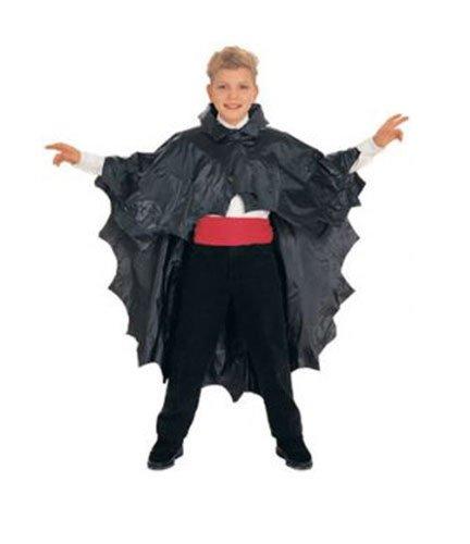 Dracula's Wife Halloween Costume (Children's Black plastic Vinyl Vampire dracula Cape halloween costume by OTC)