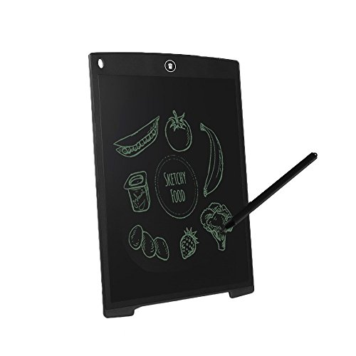 LEANINGTECH Electronic Digital LCD Writing Pad Tablet Drawing Graphics Board Notepad, Gifts for Kids Family Office Writing Board (12'' black) by LEANINGTECH