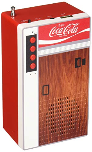 Coca Cola Retro Style Bluetooth Speaker and FM Radio - Vending Machine Design (Radio Coke)