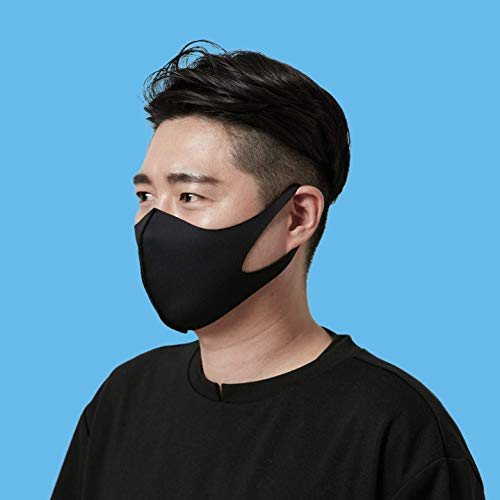 LAPCOS Breathable Face Mask Washable & Reusable Protective Cloth Mask for Women and Men (Black, Adult)