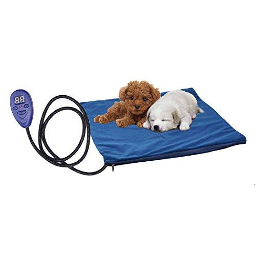 Vinteky® Almohadilla eléctrica para perros Cojines térmicas para perreras con inteligente control para temperatura Cojín de Calefacción para su mascota ...
