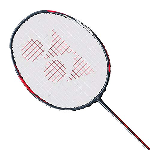 Yonex Duora 77 Badminton Racket (Red/White)(3UG5)(Strung with BG65 @ 24lbs)