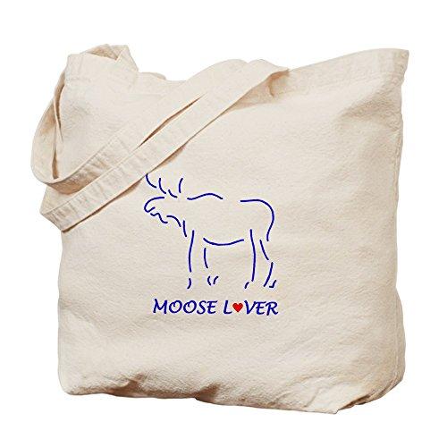 CafePress–Alce amante–Gamuza de bolsa de lona bolsa, bolsa de la compra