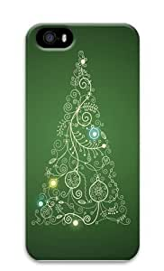 Christmas Tree Polycarbonate Hard Case Cover for iPhone 5/5S 3D Christmas gift