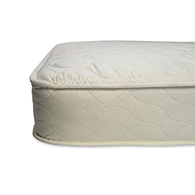 """Naturepedic Quilted Deluxe Crib Mattress - 28"""" x 52"""" x 6"""" (252 Wool)"""