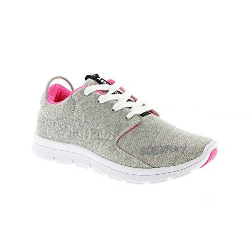 Scuba Grit Superdry Runner Baskets Gris Pink Grey Fluro Uwy15TyvWq