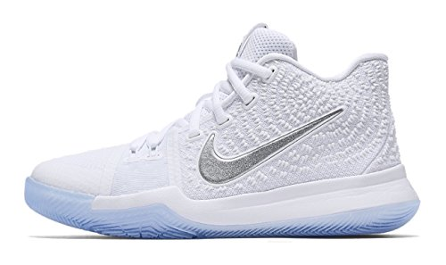 Nike KYRIE 3 BIG KIDS' BASKETBALL SHOES (Medium / 9 D(M) US, Obsidian/Black-Anthracite) by  NIKE