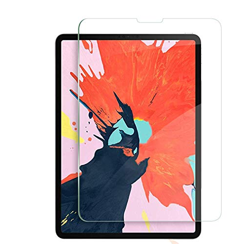 Olesit iPad Pro 12.9 Inch Screen Protector, [Full Compatible with Face ID] 9H Hardness HD Clear Tempered Glass Screen Protector for New iPad Pro 12.9 inch (2018 Release) (1 Pack)
