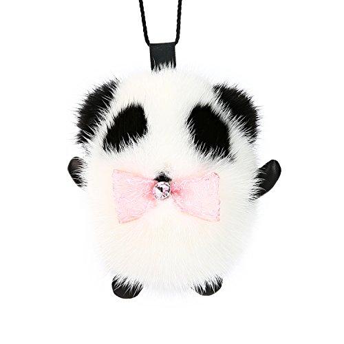 Key Chain fur pink bowtie Panda, Designed by Ella Liu. 7 - (Spring Bunny Tie)