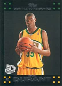 Kevin Durant 2007 2008 Topps Mint Condition Rookie Year Card #112 Picturing This Oklahoma City Thunder Star in His Seattle Supersonics Jersey!