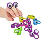 24 Pack Eyes on Rings Party Favor Set | Eye Finger Puppets | Wiggly Eyes