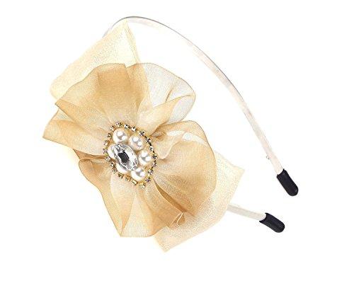 Marshel Women's Ribbon & Flower Motif Headband party wedding bridal school AX-KCS012 - Bando Wholesale