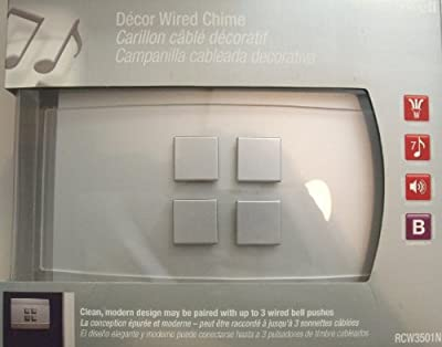 Honeywell RCW3501N Decor Wired Door Chime (No Push Button Included)