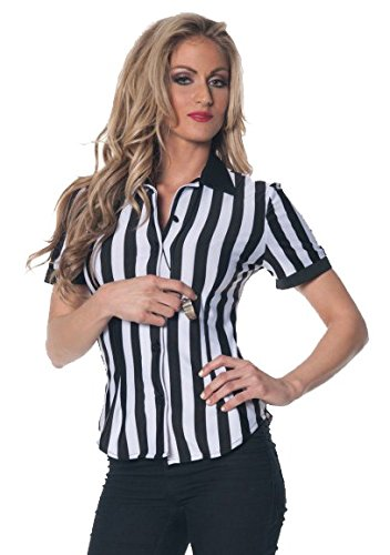 Women's Plus Size Referee Shirt - 3X]()
