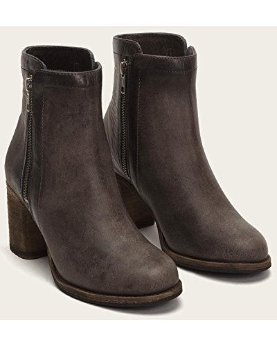FRYE Womens Addie Double Zip Boot Round Toe - 79830-Smk Smoke Soft Italian Nubuck e8kM6JogNr