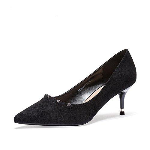 Modische Schuhe Fine High Sexy Strass Wies Heels XZGC Satined Leder Aus gx8dwW