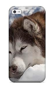 Excellent Design Sleeping Alaskan Malamute Phone Case For Iphone 5c Premium Tpu Case