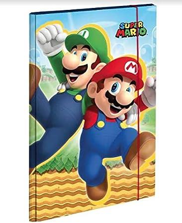 Carpeta con elástico cartón Super Mario 35 x 25 cm: Amazon.es: Equipaje