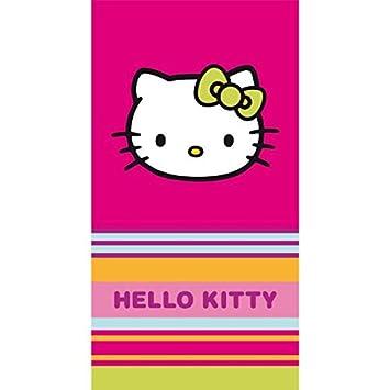 Hello Kitty - Toalla de Playa o de Baño (Kim, 85 x 160 cm, 100% Algodón: Amazon.es: Hogar