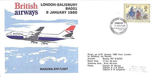 Great Britain (UK) 1980 First Day Cover British Airways Inaugural B747 Flight 13P Postage Stamp Scott #882