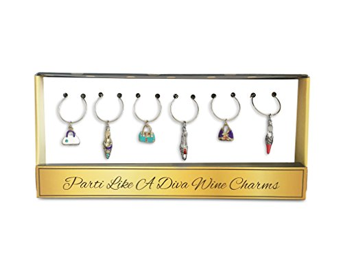 high heel wine charms - 9