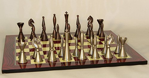 Solid Brass Art Deco Chess Set ()
