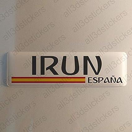 Pegatina Irun España Resina, Pegatina Relieve 3D Bandera Irun ...