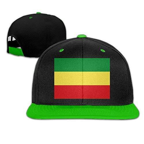 4b8b114aa1dd6 DoaaMota Ethiopian Flag Adult Unisex Baseball Snapback Hat T