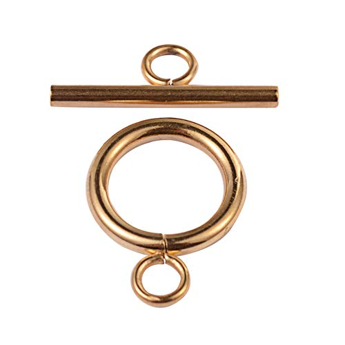 - ARRICRAFT 10 Sets Metal Bar & Ring Toggle Clasps Jewelry Components End Clasps for Bracelet Necklace Making