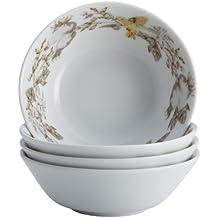 BonJour Dinnerware Fruitful Nectar Porcelain 4-Piece Fruit Bowl Set