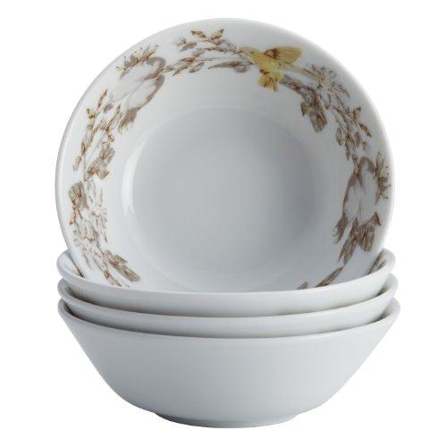 floral glass bowl set - 5