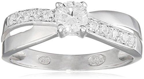 Tous mes bijoux - Bague Solitaire - Argent 925 - Oxyde de Zirconium - BAMO01006