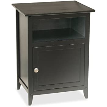 simple metal nightstands amazoncom winsome wood end tablenight stand with door and shelf